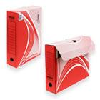 Короб архивный Для хранения А4 до 700 листов 75 мм Kris микрогофрокартон красный 260х325х75 мм